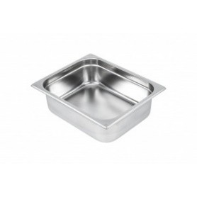 Bac Gastronorme 1/2 inox AISI 304 profondeur 100 mm CBG12100
