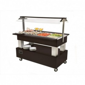 BUFFET CHAUFFANT CENTRAL MOBILE 4 BACS GN 1/1 - SB40C