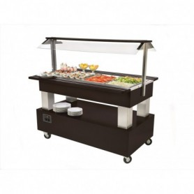 Buffet mixte froid et chaud central mobile SB40M