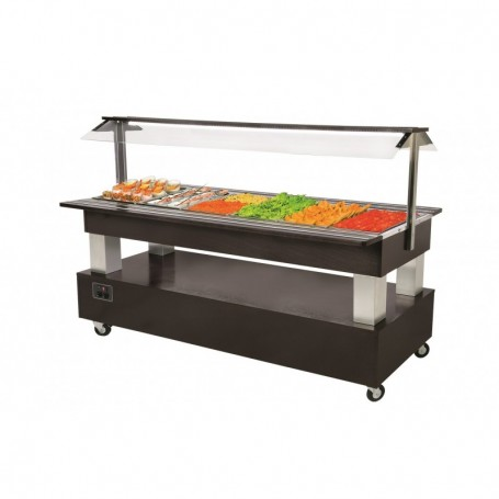 Buffet chauffant central mobile 6 bacs GN 1/1 - SB60C