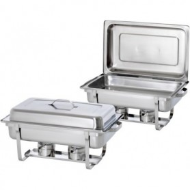 Chafing dish GN1/1 pour gel combustible x2 500486