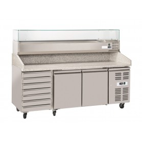 Table Refrigeree A Pizza PZ3610+VR4200 - Materiel Pizza