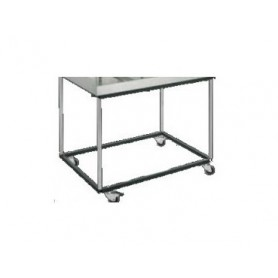 Support inox 4 pieds avec roulettes - YS/MARK