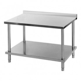 TABLE DE TRAVAIL INOX MURALE TM860SA