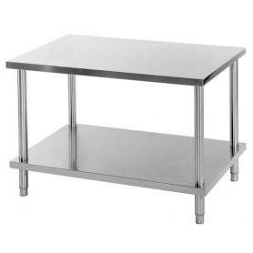 TABLE DE TRAVAIL INOX CENTRALE TC1870SA