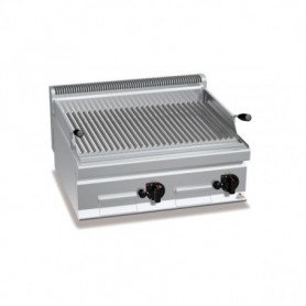 GRILL CHARCOAL PIERRE DE LAVE GAZ DOUBLE SÉRIE 700 -  Version Top - PLG80BBE